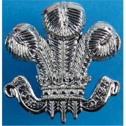 South Wales Police - Collar Badge PoW Feathers  Chrome-plated UK Police or Prison insignia