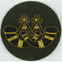 Drum Major - Crown / 4 Stripes DPM Rank Slide with Queen Elizabeth's Crown. Embroidered Musician, piper, drummer or bugler insig