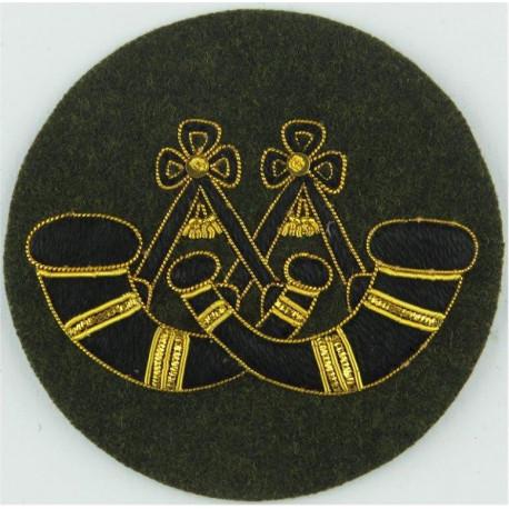 Drum Major - Crown / 4 Stripes DPM Rank Slide with Queen Elizabeth's Crown. Embroidered Musician, piper, drummer or bugler insig