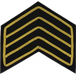 Drum Major Guards Blue Tunic Rank Chevrons 4 Bars Gold Outline On Blue  Bullion wire-embroidered Musician, piper, drummer or bug