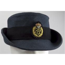 Women's Royal Air Force Hat - With New Type Badge Upturned Brim Type with Queen Elizabeth's Crown. Lurex Hat, cap or helmet