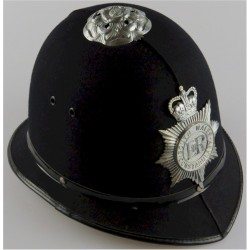 Helmet: South Wales Constabulary (EiiR Centre) Rose-Top With Star with Queen Elizabeth's Crown. Chrome-plated Hat, cap or helmet