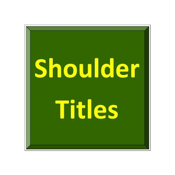 Shoulder Titles