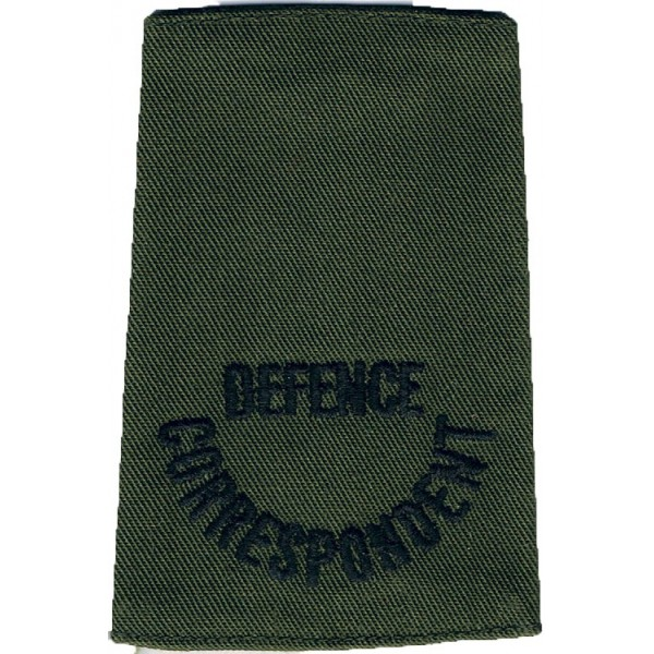 Slip-on Army Cloth Shoulder Titles